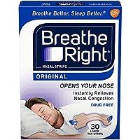 海外直送品Breathe Right Breathe Right Nasal Strips Original Tan Large, Large 30 ct (Pack of 4)