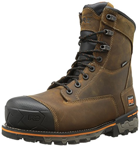 Timberland PRO Men's 8 Inch Boondock Composite Toe Waterproof Industrial Work Boot,Brown Oiled Distressed Leather,10.5 M US