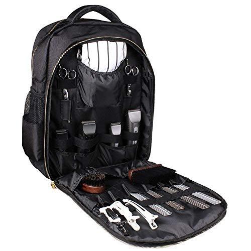 ACZZ Mochila para herramientas de peluquería, bolso de mano para peluquería, portátil, multifunción, impermeable, tijeras, pinza para el pelo, caja para el cabello, mochila para equipaje de viaje