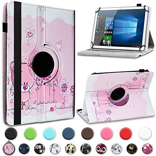 UC-Express Tablet Hülle kompatibel für Telekom Puls Tasche Schutzhülle Hülle Schutz Cover 360° Drehbar, Farben:Motiv 1