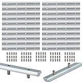 EypiNS 20 PCS Dado scanalato, Connettore sezione ALU, 4040 Tipo Scanalature Angolari Asolate, Utilizzabile per profili in alluminio 40x40, 40x80 e SUPERLIGHT