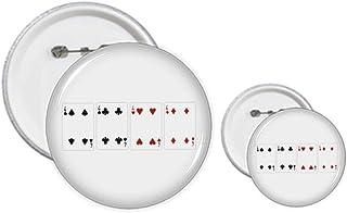 Lot de 4 badges en forme de cœur et de bêche en diamant