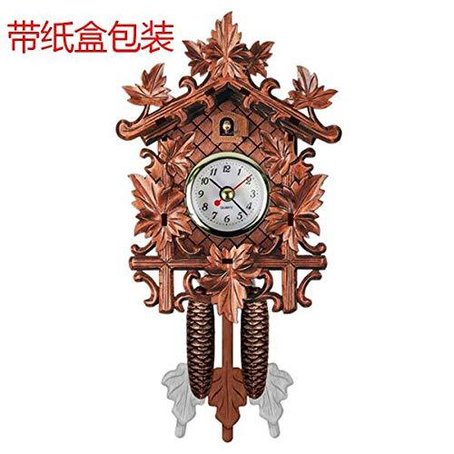 Wanduhr Vintage Home Dekorative Vogel Wanduhr Hängen Holz Kuckuck Uhr Wohnzimmer Pendeluhr Craft Art Uhr Für Neues Haus 8Inch Brown3