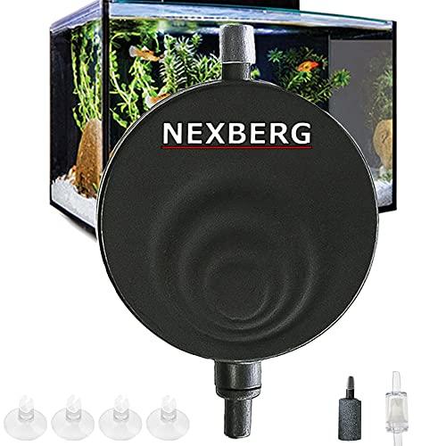 CAMBANI Aquarium Pumpe Super Leise Luftpumpe <35dB Mini Sauerstoffpumpe Luft-Pumpe für Aquarien mit bis zu 50L Aquarienluftpumpen Energie-Sparende 1W mit Thermometer UMSONST, Rückflusssperre