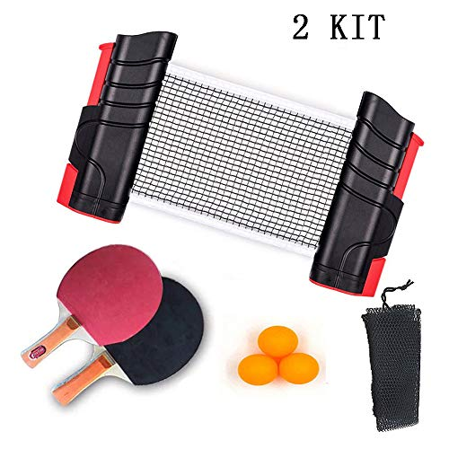 Best Bargain Jytap 2 Set All-in-ONE Portable Ping Pong Set with Retractable Net, Includes Retractabl...
