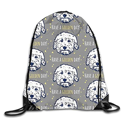Dyfcnaiehrgrf Dogs In Gray Taupe - Mochila con cordón para mujer, bolsa de yoga, bolsa de hombro para senderismo al aire libre, viajes