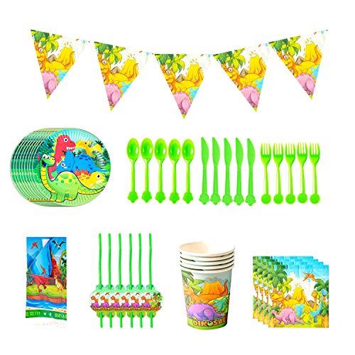 Vajilla Desechable Dinosaurios Vajilla de Dinosaurio Set Fiesta de cumpleaños Baby Showers Favores ideal para postres comidas y bebidas para fiestas