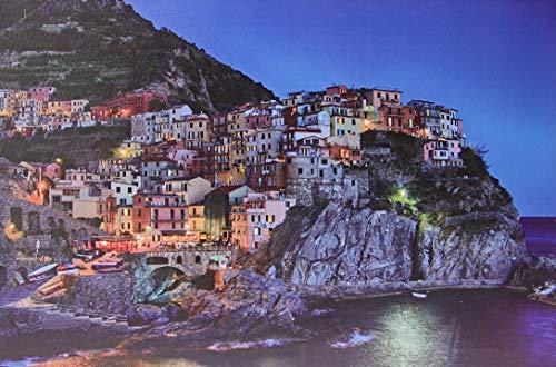 Jandei Cinque Terre Italienische Küstenstadt Landschafts-LED-Bild mit 8 LEDs