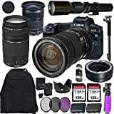 Canon EOS R Mirrorless Digital Camera with EF 24-105mm STM & EF 75-300mm III Lens + 500mm Preset Telephoto Lens Including Mount Adapter & Valued Accessories