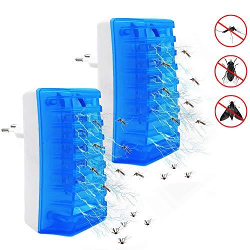 Lukasa Elektrischer Insektenvernichter Lampe, Elektrische Mückenfalle Moskito Killer Insektenfalle Mückenfalle, 2W Plug-in Indoor Fliegenfalle für 15m² Zu Hause Schlafzimmer