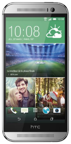 HTC One M8 - Smartphone Libre Android (Pantalla 5', cámara 4 MP, 16 GB, Quad-Core 2.3 GHz, 2 GB RAM), Plata [Importado]