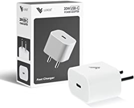 Luxos 20W USB Type-C Wall Charger Compatible for iPhone 12/12 Mini/12 Pro Max, Pixel 4 - Fast Charger with Foldable Plug Ultra-Compact Adapter