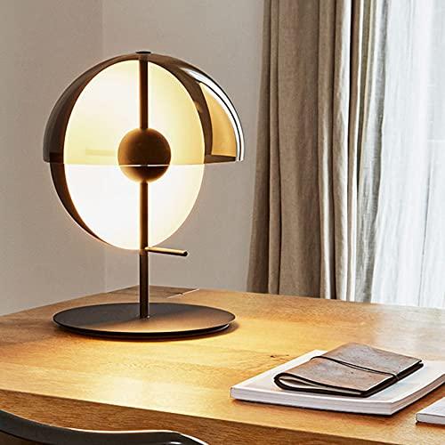 TBNB Lámpara de Noche LED, lámpara de Mesa de Forma Redonda E27, Pantalla de Vidrio marrón, Luces Decorativas de 45 cm para Dormitorio, Sala de Estar