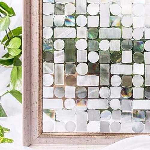 LMKJ Película de Ventana láser 3D en Pegatina de Vidrio Color Mesa de baño PVC hogar Autoadhesivo Muebles Decorativos película de Vinilo A84 30x200cm