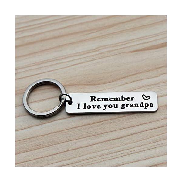 XGAKWD Father's Day Keychain Gifts for Grandpa – Remember I Love You Grandpa Jewelry, Birthday Christmas Key Chain Gift for Grandfather