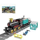 YOUX Tren eléctrico de ingeniería con pistón redondo, Kazi KY98239, 332 bloques de construcción de piezas de construcción de juguete compatible con Lego Technic