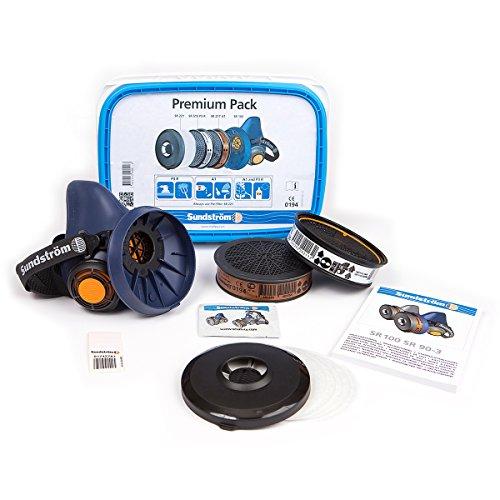 Sundström Premium Atemschutz-Set mit Halbmaske SR 100 inkl. Partikelfiler + Gasfilter A1