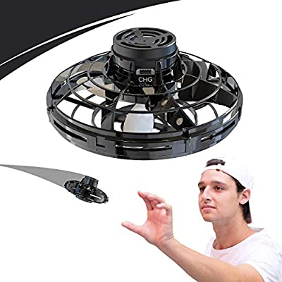 Lucoss Flying Toys Drones for Kids & Adults, Hands Controlled Mini Drone Helicopter with 360 ° Rotating and Shining LED Lights, Easy Indoor Flying Ball Drone Toys for Boys or Girls by Lucoss