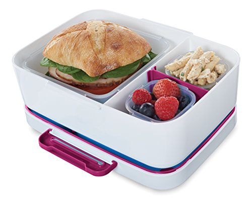 Rubbermaid LunchBlox Leak-Proof Entree Lunch Container Kit with Case, Small, Beet Red 2000580