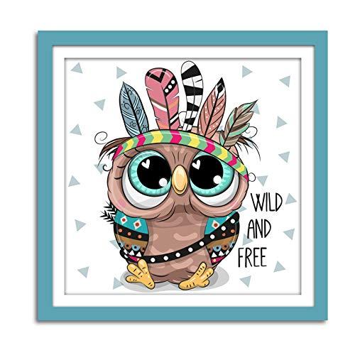 Halloween Decorations Diamond Painting Kits for Kids owl, Rhinestone Diamond Art Kits for Beginners, DIY Full Drill 5D Diamond Painting Perfect for Home Office Wall Decor(14x14 inch)