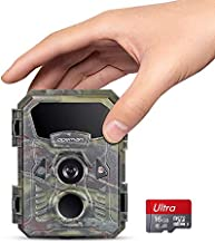 APEMAN Mini Trail Camera 16MP 1080P with 16GB TF Card Waterproof Night Vision Game Camera for Wildlife Detecting, Home Security