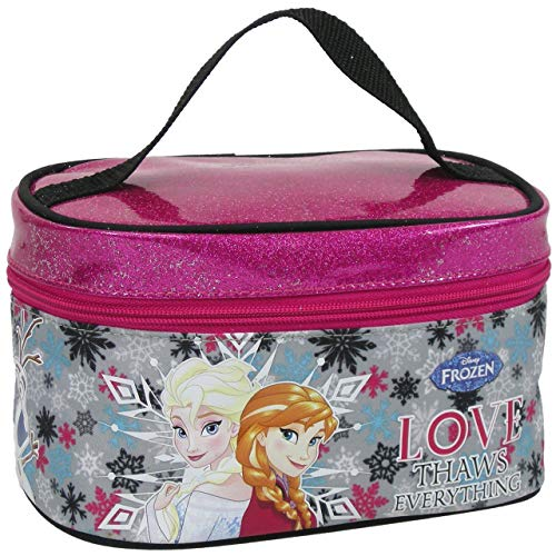 Disney Frozen Die Eiskönigin Kinder Beauty Bag ca. 19 cm Kulturtasche Kosmetiktasche Waschtasche Kosmetikkoffer Tasche dklbl
