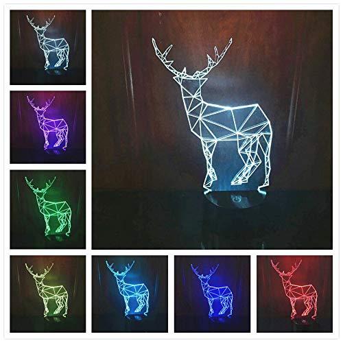 Solo 1 pieza Lámparas de mesa para dormitorio Regalos de Navidad Sombras de lámpara para lámparas de mesa Led USB 7 colores que cambian la luz de la noche para dormir del bebé