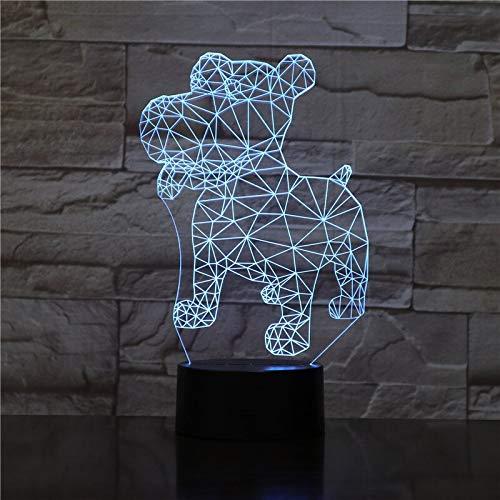 Only 1 Piece 3D Rottweiler Dog Lights Animal Lamp Desk USB LED Night Lights KidsTouch Sensor Night Lamp for Bedside Decoration