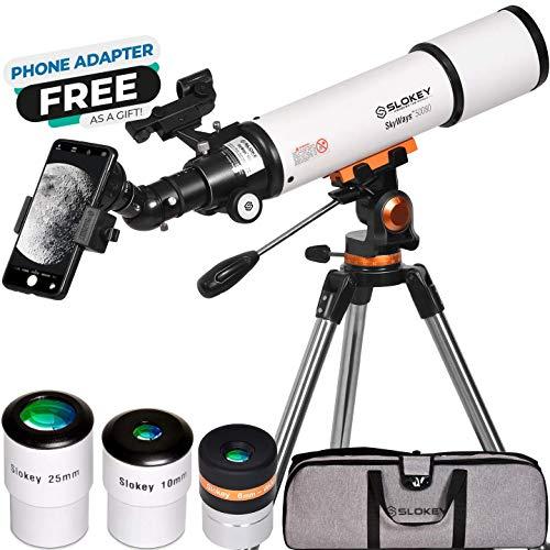 Teleskop Astronomie, Tragbares und Leistungsstarkes 20x-250x, Einfach zu Montieren und zu Verwenden, Ideal für Anfänger Erwachsene.Telescope für Mond, Planeten und Sternenbeobachtung