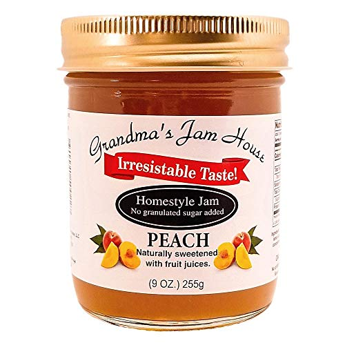 Sweet Peach Jam | No Added Sugar | All Natural | Homestyle Fruit Jam |...
