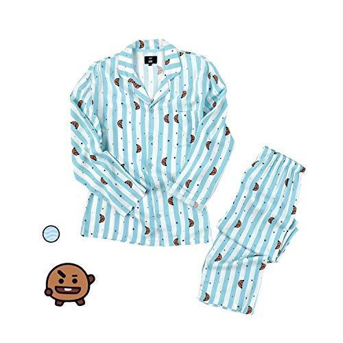 Pyjamas für Frauen, B.TS Bangtan Boys Nachtwäsche Chimmy COOKY KOYA MANG RJ SHOOKY TATA Same Harajuku Langarm-Shirt Nighty Bedgown,F,M