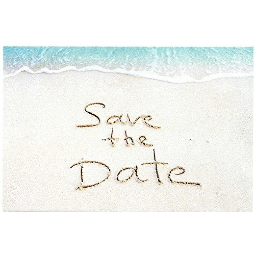 Sandy Beach Save The Date Postcards - 4in. X 6in. (100)