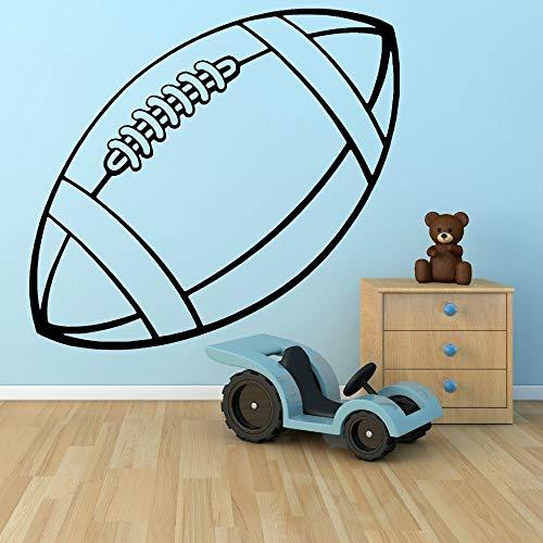 Tianpengyuanshuai Vinyl Sport Serie wandaufkleber Rugby Ball künstler Dekoration wandaufkleber Zimmer entfernbare wandaufkleber57x32cm