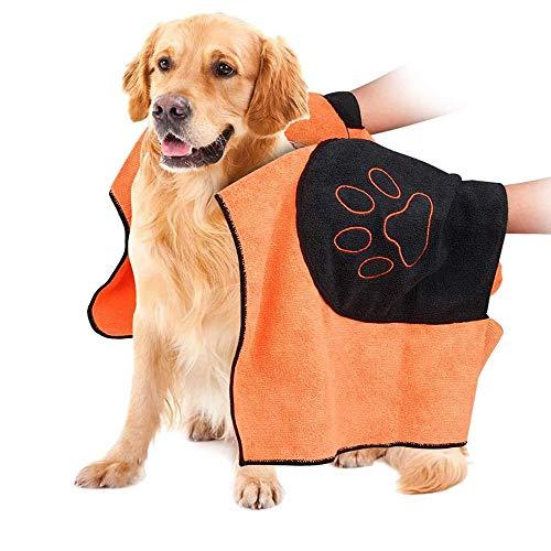 N\A 1 Pieza Toalla De Baño para Perro, Toalla para Perros, Perros Albornoz De Microfibra, para Perros, Gatos, Mascotas, Toalla Microfibra Ultra Absorbente para Agua Secado, 50x100cm