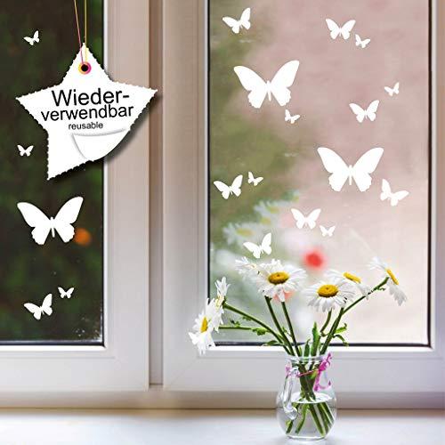 Wandtattoo-Loft Fensterbild Schmetterlinge Set WIEDERVERWENDBAR