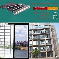 OUPAI 窓フィルム 窓用フィルム、ソーラーフィルム片方向ミラーフィルム静的にくっつく熱制御日焼け防止抗uvウィンドウの色合い取り外し可能ホームやオフィス3色 ガラスフィルム (Color : B, Size : 20inch×3feet)