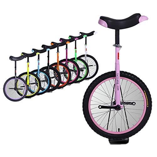 Lhh Einrad Balance Fahrrad Einrad mit Flat Shoulder Standard Gabel, Rosa Einrad Fahrrad für Erwachsene Kinder Teenager Fahrer, Berg im Freien (Size : 18inch)