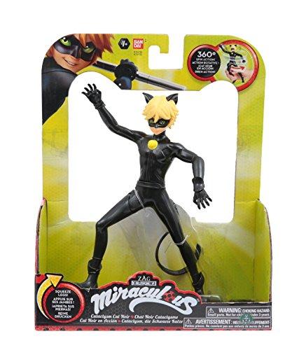 Giochi Preziosi- Miraculous Cat Noir Personaggio Deluxe con Funzione, Multicolore, 19 cm, MRA09200
