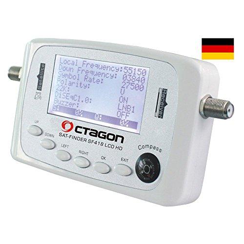 Octagon - Octagon sf 418 hq satfinder hdtv lcd localizador de satélite hd fullhd 3d astra hotbird tu