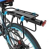 OUTERDO Fahrrad Gepäckträger, Gepäckträger aus Aluminum, Carrier Sattelstütz mit Reflektor Für Fahrrad Mountainbike, Verstellbar(Passt auf:Durchmesser der Sattelstütze<33MM)