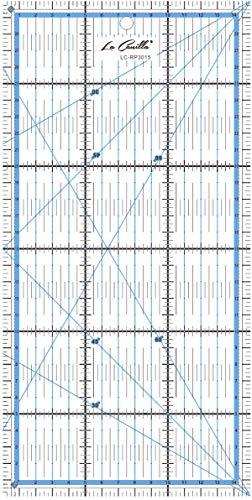 La Canilla ® - Regla para Patchwork Regla Universal 30x15 cm Regla Profesional Acrílico de Costura, Acolchado, Quilting, Patronaje y Base de Corte Transparente con Guías y Marcas Rectas y Ángulos