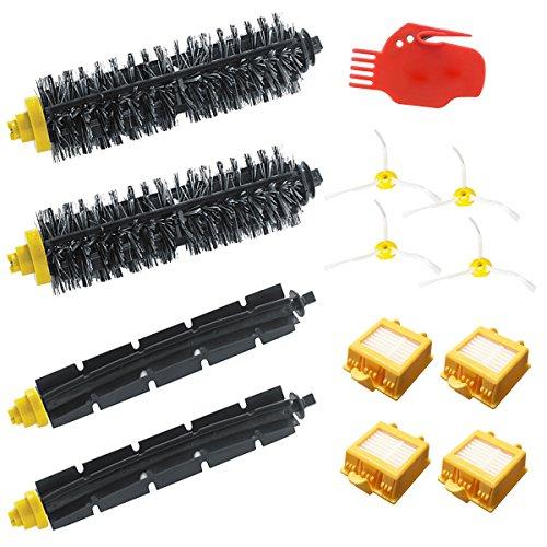 tekehom Pinsel-Teile Zubehör Kit Reinigung Seite Pinsel Filter Ersatz-Kit für iRobot Roomba 700720750760765770Ersatzteile