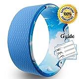 Yoga Wheel Yoga Rad mit Anleitung zur Verbesserung der Flexibilität bei Yogaübungen belastbar bis 474kg