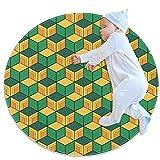 Lindo ronda suave felpa alfombra antideslizante piso esteras para...