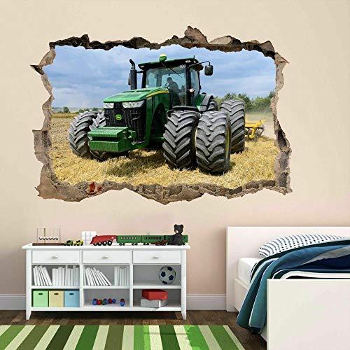 Pegatinas de pared Tractor moderno arte de la pared pegatina mural calcomanía cartel granja casa de campo habitación de los niños BZ40 cartel papel tapiz- 70×100cm