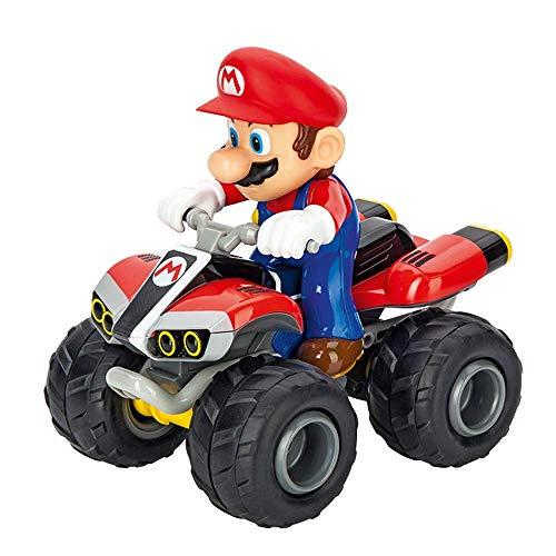 Carrera RC Mario Kart - Quad – Ferngesteuertes Kinderfahrzeug für drinnen & draußen – Elektro-Fahrzeug mit Sound für Kinder ab 6 Jahren & Erwachsene