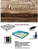 U.S. Water Aqua Fusion, Calesco King Softside Waterbed Mattress with Cotton Pillow top & 80% semi Wave