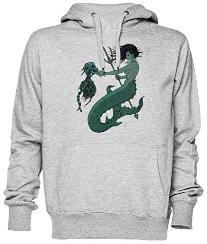 Sirena Gris Jersey Sudadera con Capucha Unisexo Hombre Mujer Tamaño XS Grey Unisex Hoodie Size XS