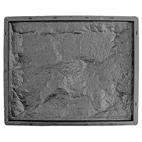@tec Schalungsform für Wandklinkersteine, Gießform Plastikformen für Beton, Klinkersteine, Klinkerplatten und Wandverkleidung für Haus und Garten   Basaltoptik, Viereck, 33 x 26.6 x 4 cm