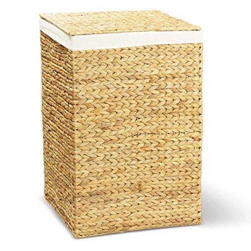 Wäschekorb TOM, 46x46x70 cm (L/B/H), Wäschebox, inkl. Wäschesack aus Baumwolle, Volumen: ca. 140 Liter  Wäschetruhe